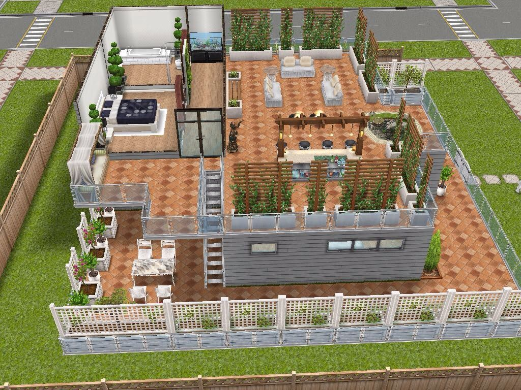 House 13 level 2 sims simsfreeplay simshousedesign
