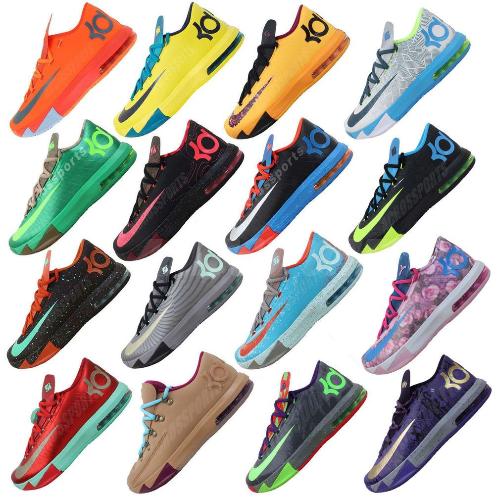 hot sales fb9fb ebc10 Nike KD VI 6 Air Max Zoom Thunder Kevin Durant 5 4 Mens Basketball Shoes  Pick 1