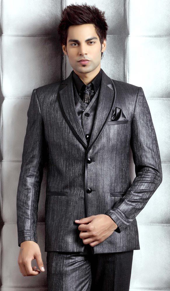Imposing Black Suit Item code : TSP2039 http://www.bharatplaza.com ...