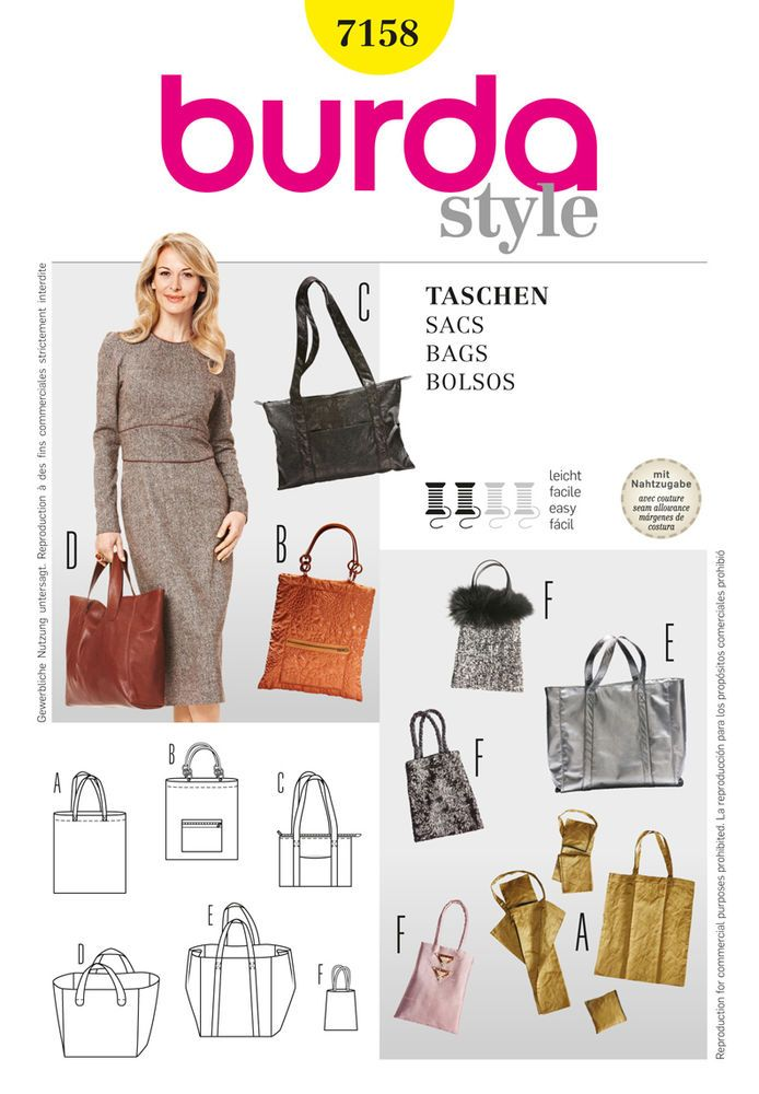 chic and trendy shopping bags in different sizes and designs, and ...