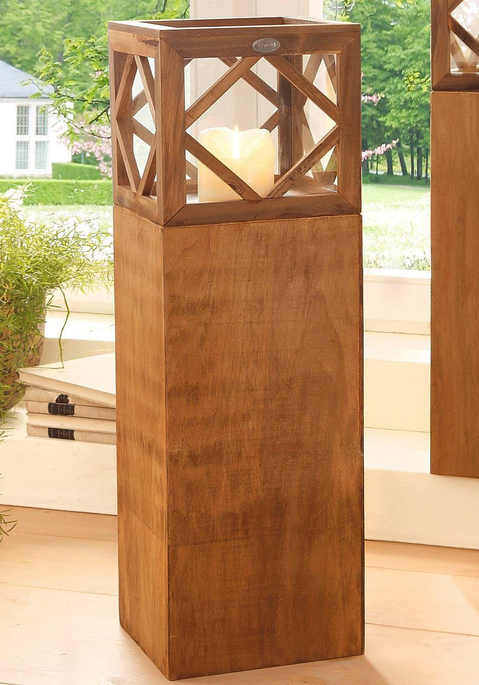 artikeldetails rustikale laterne in eckiger form ma e. Black Bedroom Furniture Sets. Home Design Ideas