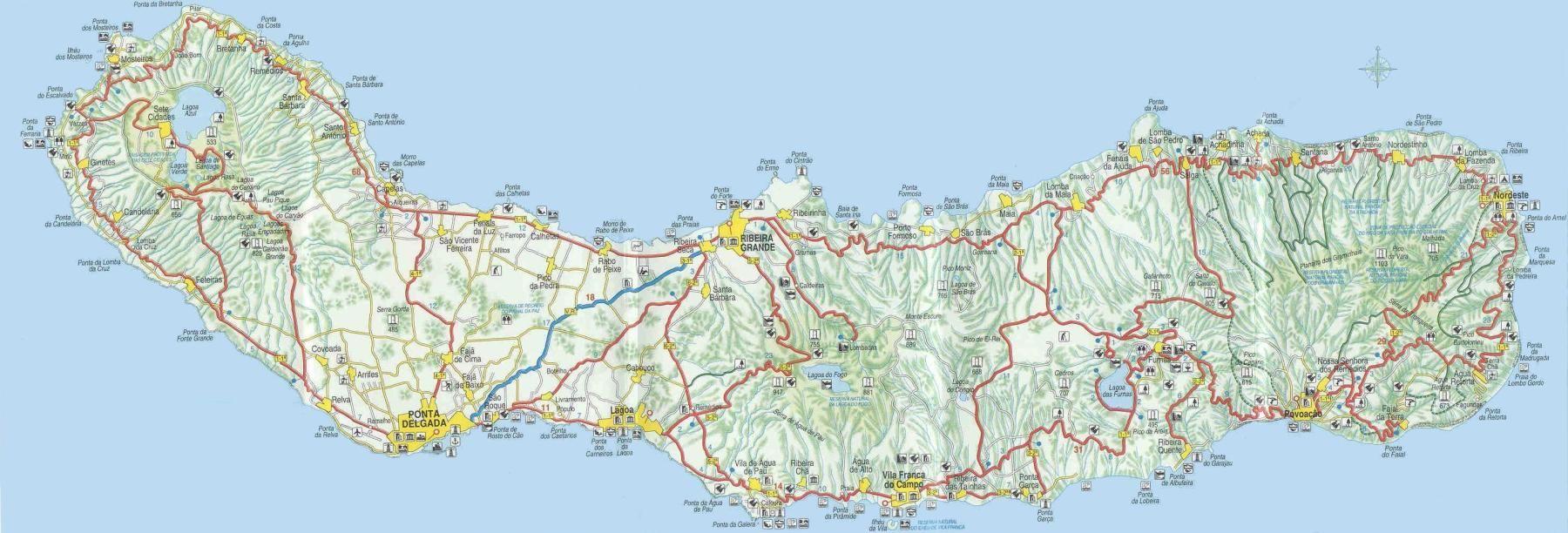 mapa sao miguel sao miguel(mapa) | no place like home | Pinterest | Portuguese  mapa sao miguel