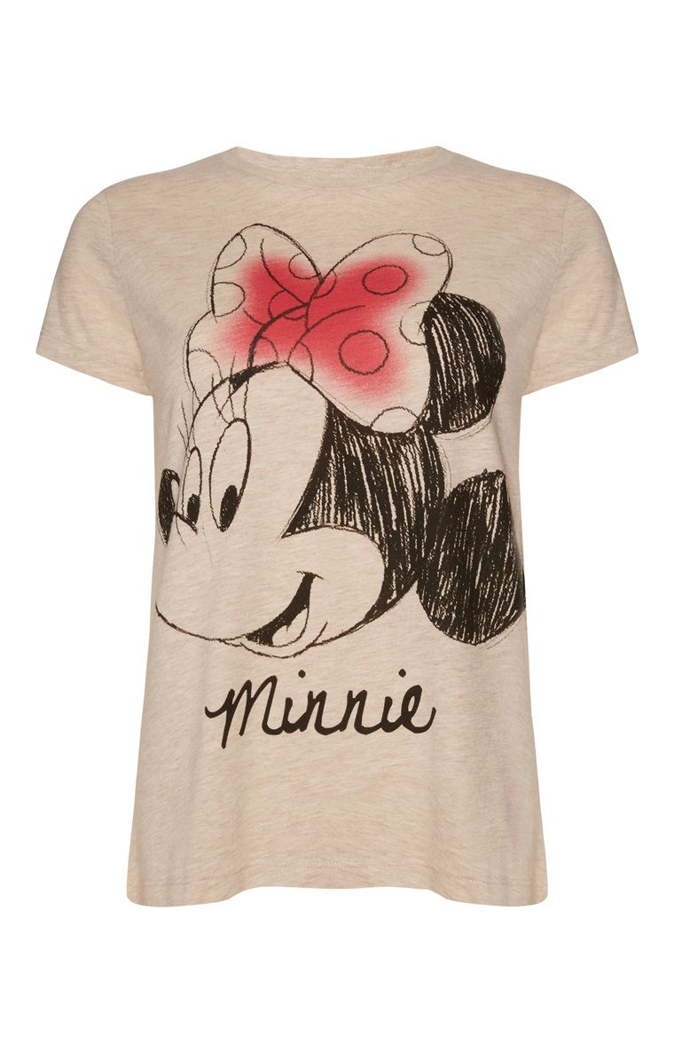 e9ea4fac0 Primark - Cream Disney Minnie Mouse T-Shirt | disney | Disney ...