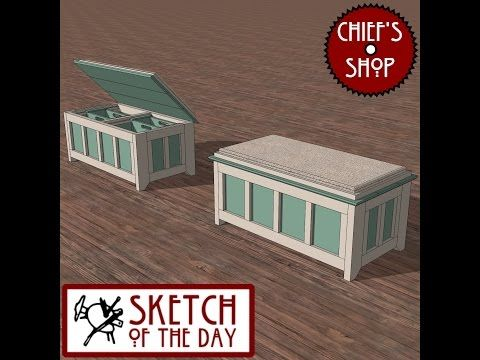 Chief's Shop Sketch of the Day: Storage Ottoman - YouTube