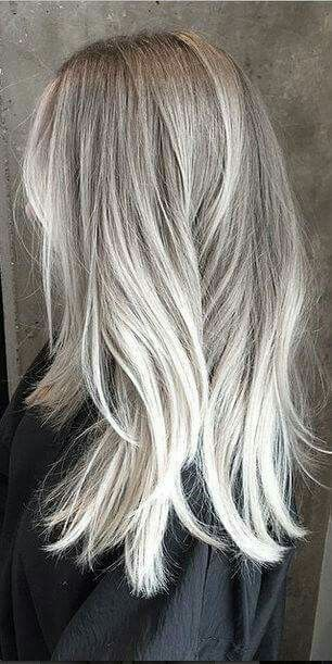 Shoulder grey balyage to white hair pinterest hair coloring hair style pmusecretfo Image collections