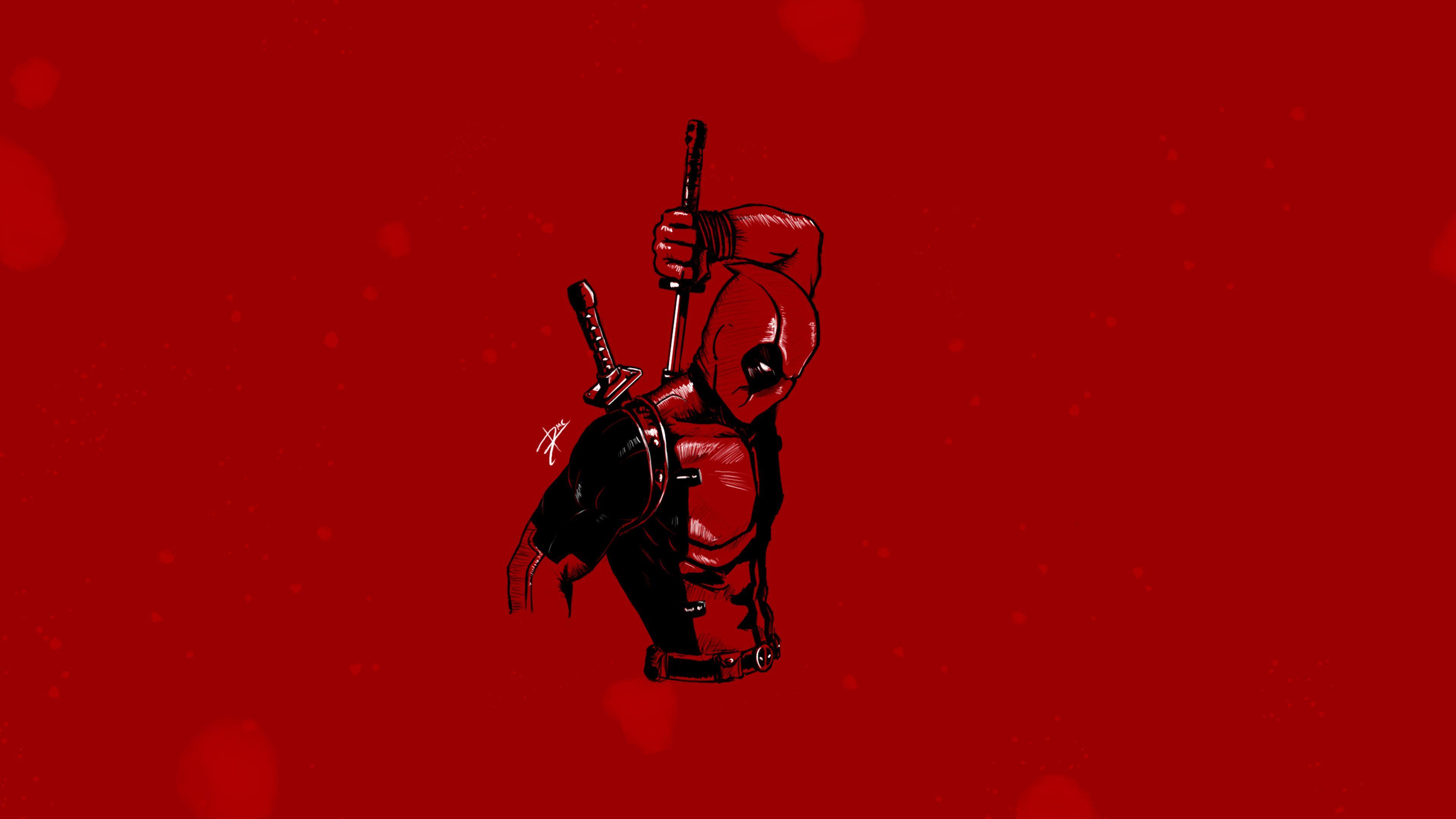 Deadpool Minimalist 4k Minimalist Wallpapers Minimalism