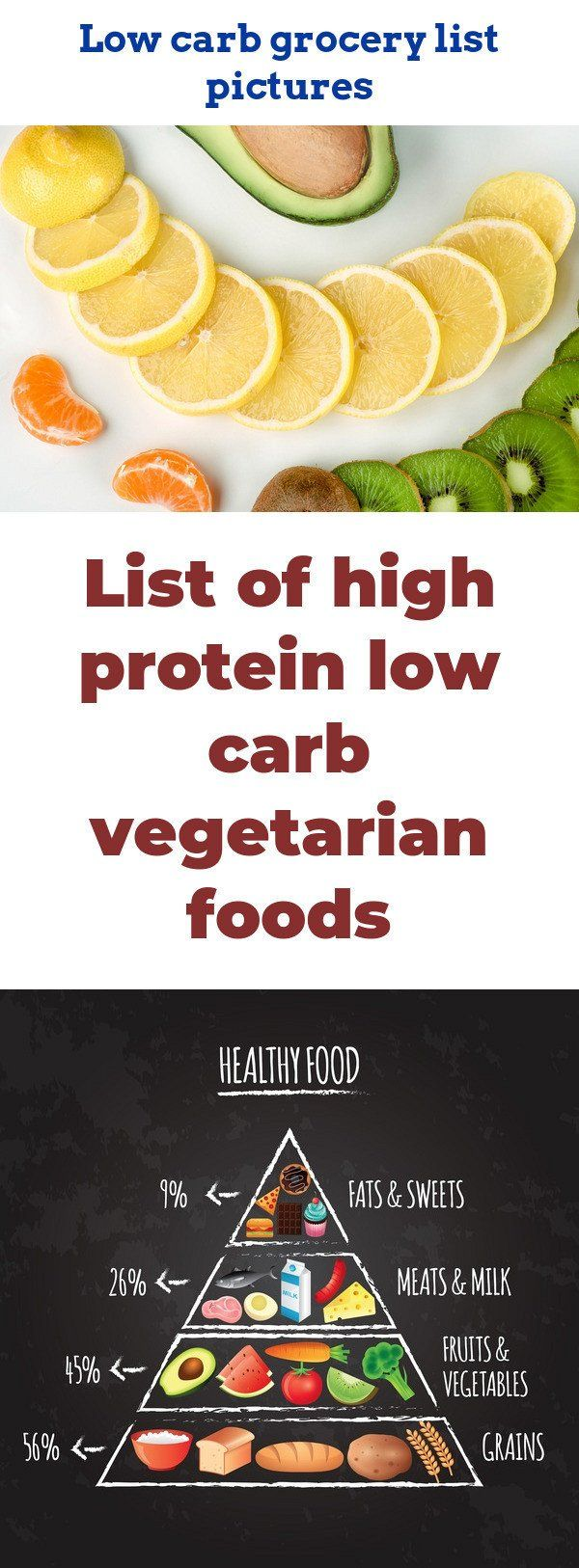 List of high protein low carb vegetarian foods. Discover