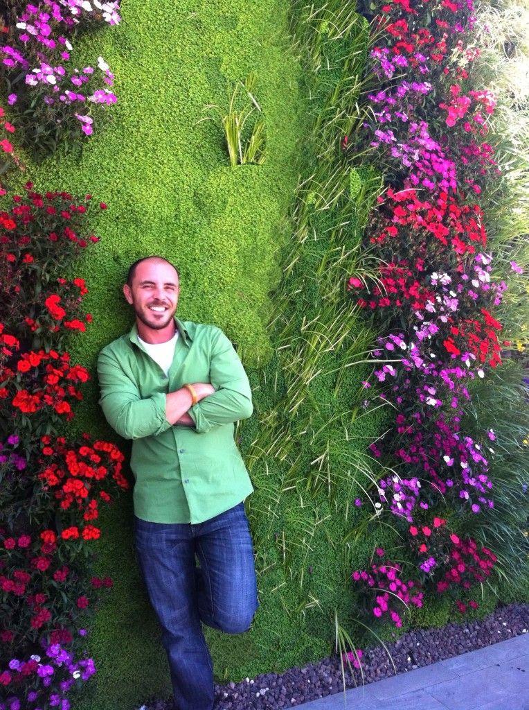 Foto8 visi n a escala del jard n vertical de paisajismo for Jardineria al aire libre casa pendiente
