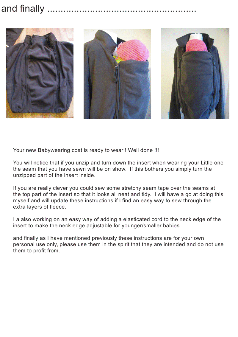 560542f690e4a Free Babywearing coat DIY tutorial... I need to do this so I can wear twins  who fight in the amauti.