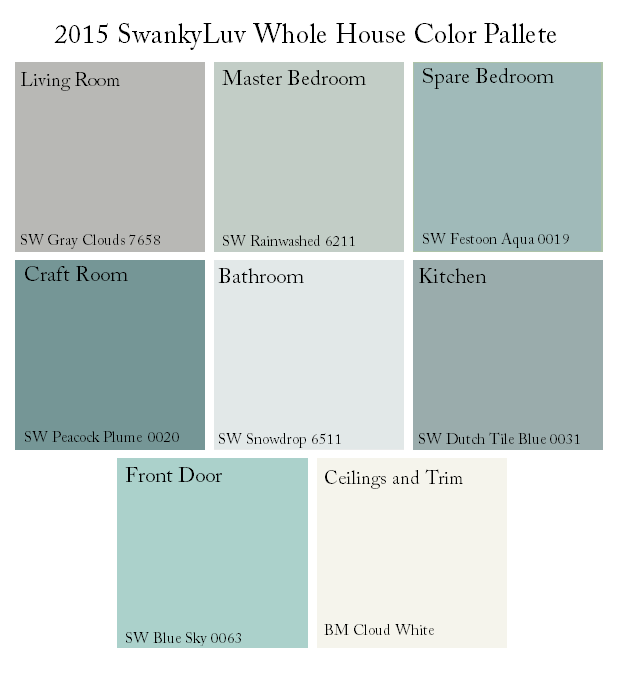 Sherwin Williams Whole House Color Palette Google Search Paint