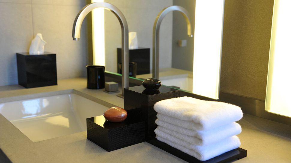 gorgeous black bathroom accessories at the armani hotel dubai the boxes have the same stunning pebble lids as the armani prive fragrance bottles - Bathroom Accessories Dubai