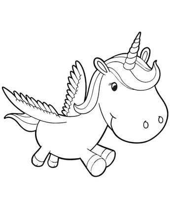 baby unicorn coloring pages | coloring pages for kids