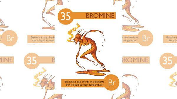 Il bromo è uno dei due elementi che si presenta in forma liquida a temperatura ambiente.