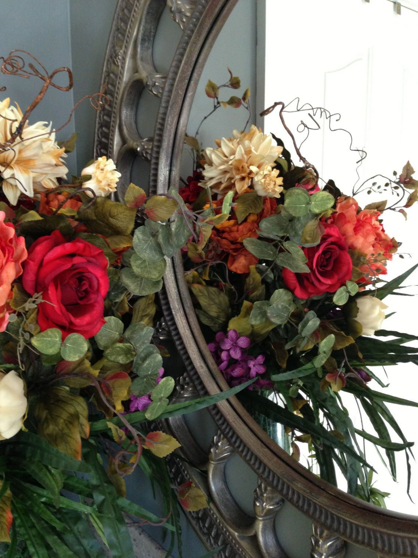 Stunning Rose And Peony Flower Arrangement Centerpiece Wreath