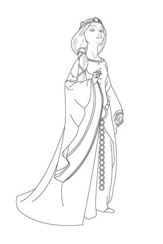 Queen Elinor coloring page from Brave category. Select