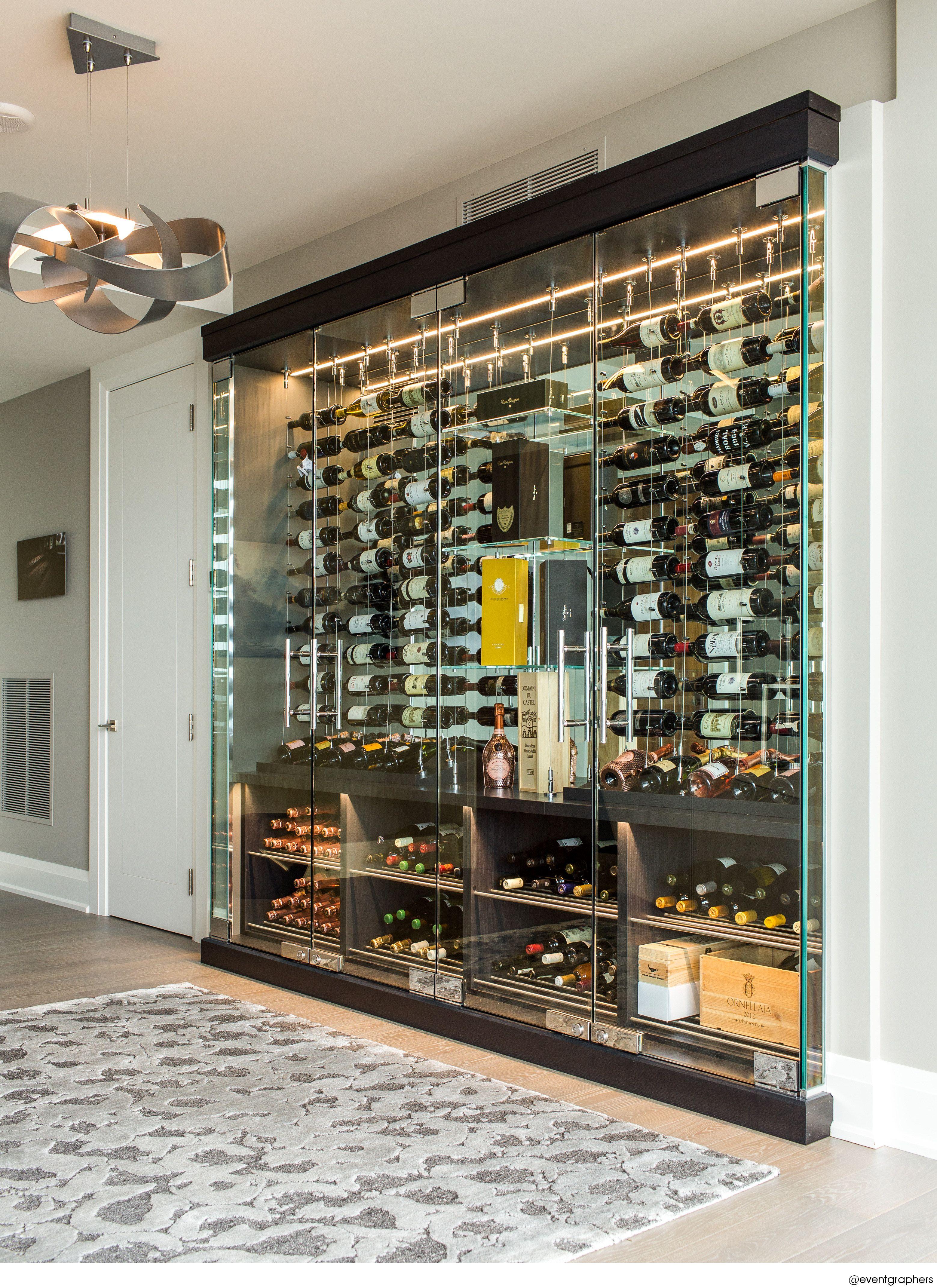 Custom Glass Enclosed Wine Cellar By Papro Wine Cellars
