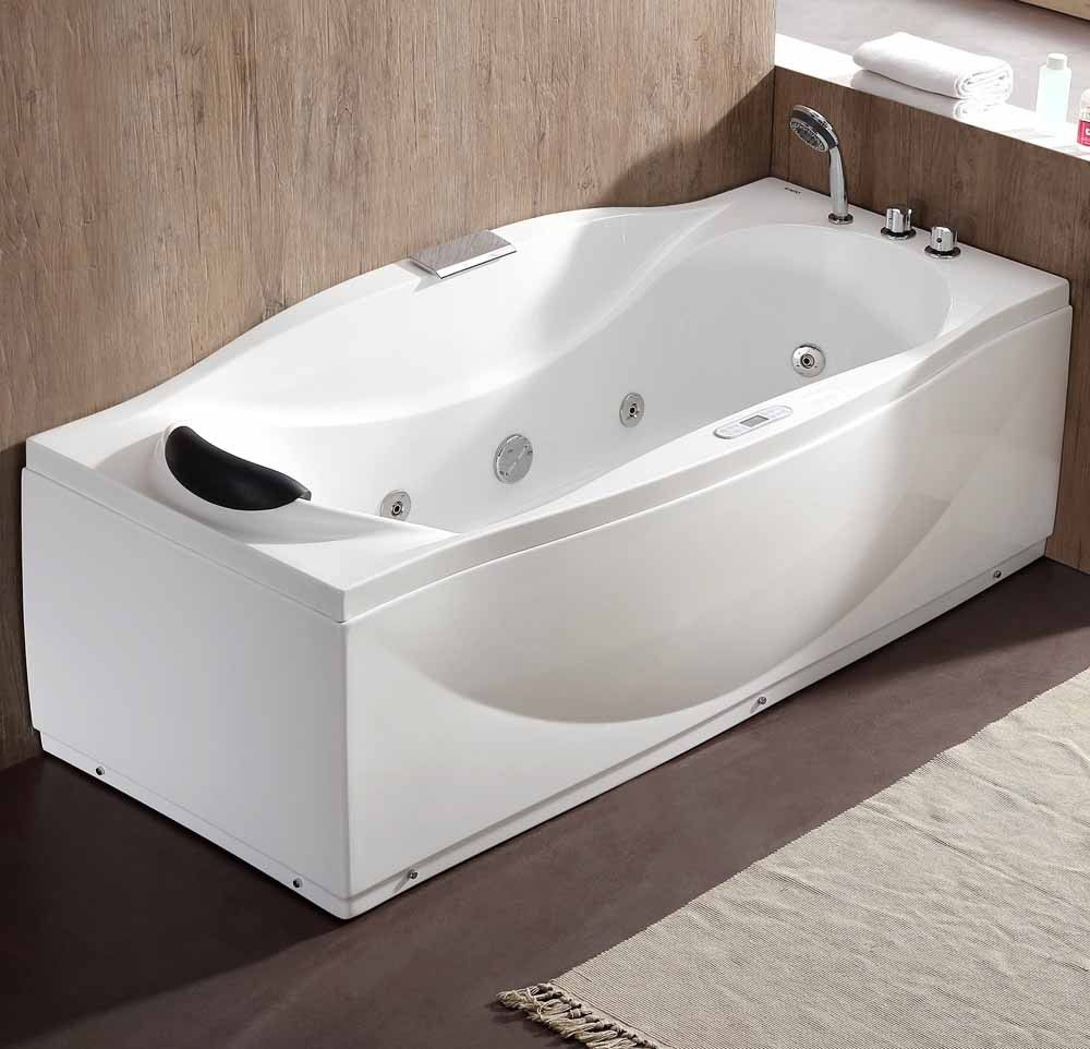 EAGO AM189ETL-R 6 ft Right Drain Acrylic White Whirlpool Bathtub w ...