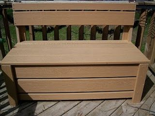 Tru Tales Feats April 2010 Patio Storage Bench Outdoor Storage