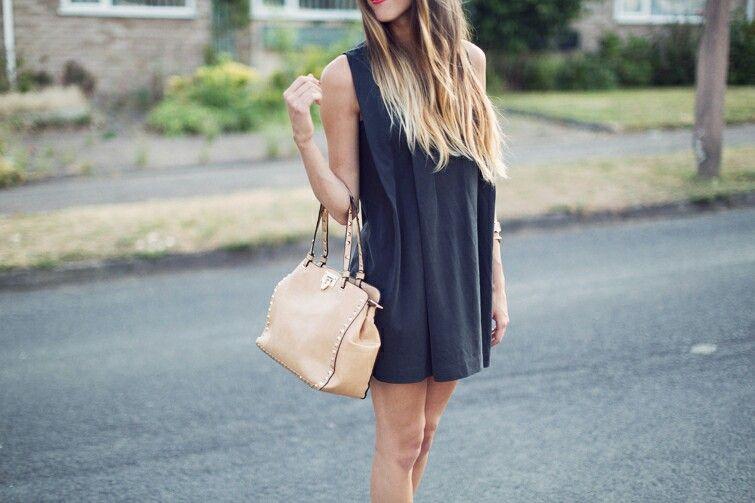 Ombre hair & little black dress