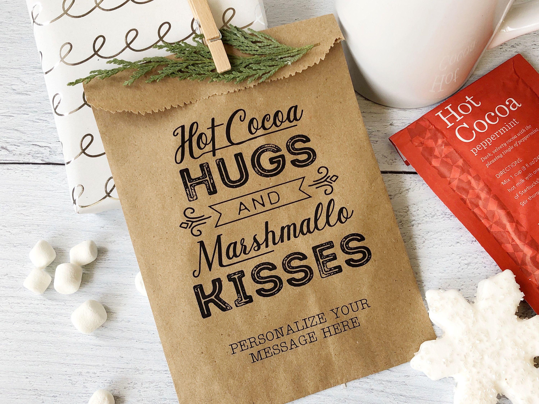 Hot chocolate bar bags Hot Cocoa Gift DecemberJanuary