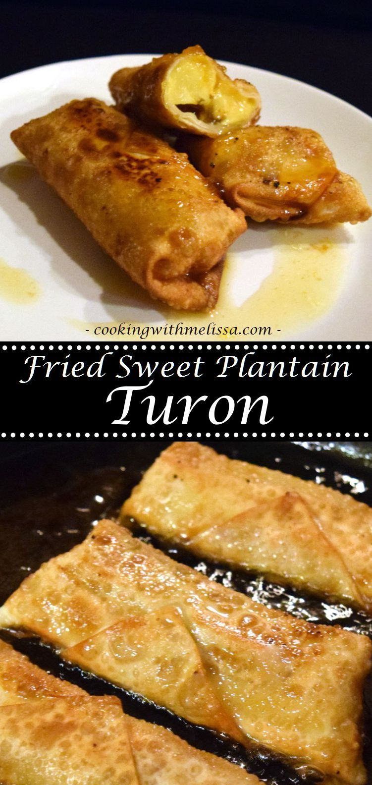Fried sweet plantain turon apps yum pinterest filipino fried sweet plantain turon super easy and really sweet plantain recipe forumfinder Choice Image
