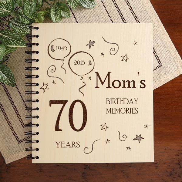 birthday christmas gift present 70 year memory book Personalised photo album