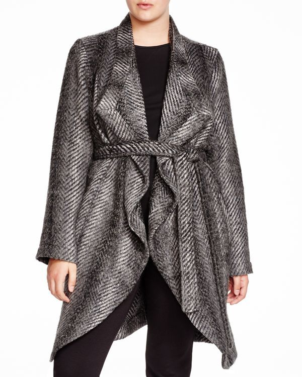 abdc3cfc35e Bb Dakota Plus Haley Jacquard Twill Wrap Coat