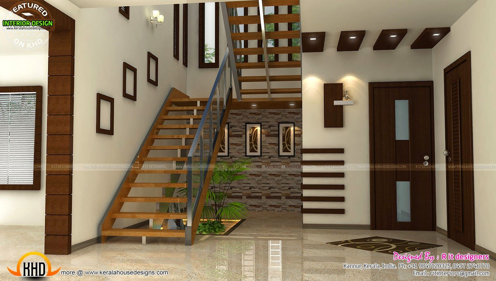 Best Staircase Bedroom Dining Interiors Kerala Home Design 400 x 300