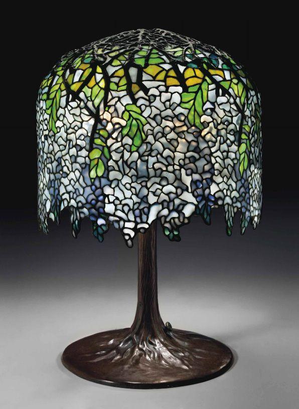 Tiffany Studios Wisteria table lamp, Christie's lot #121