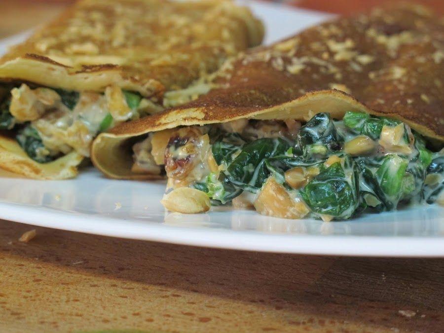 Relleno para crepes (Espinacas a la crema) | Cocina