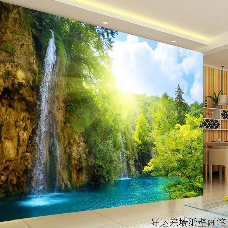 benutzerdefinierte 3d wandbild gro e tv wandbild sch ne landschaft tapeten 3d landschaft. Black Bedroom Furniture Sets. Home Design Ideas