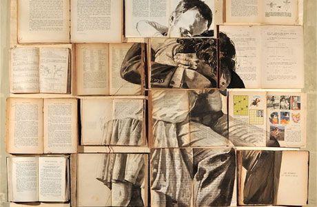 "One of several ""Book Paintings"" by artist Ekaterina Panikanova."