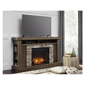 Signature Design by Ashley W697 Fireplace TV Stand | fireplace tv ...