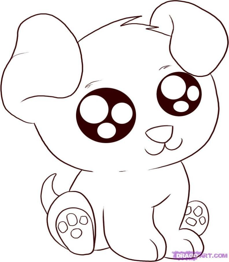 Cute Cartoon Animals Coloring Pages Parenting Easy Animal