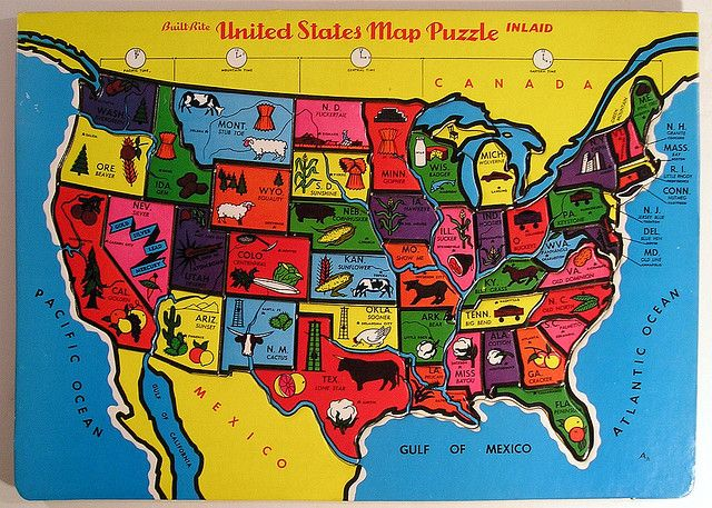 Visit ALL States I Can Check Off Illinois DahTennessee - Us map georgia puzzle