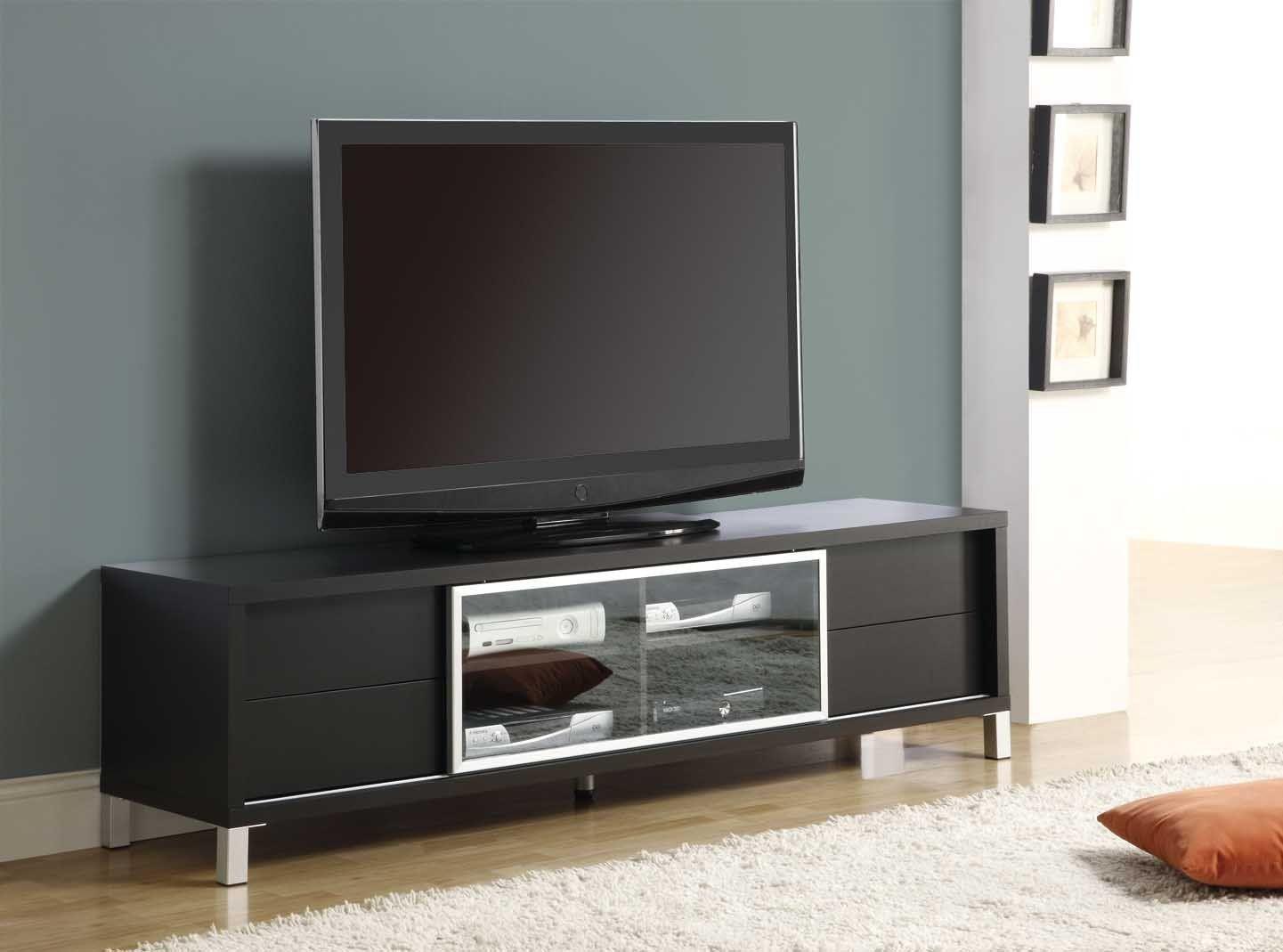 Monarch Specialties Cappuccino Hollow Core 70 Inch Euro TV Console