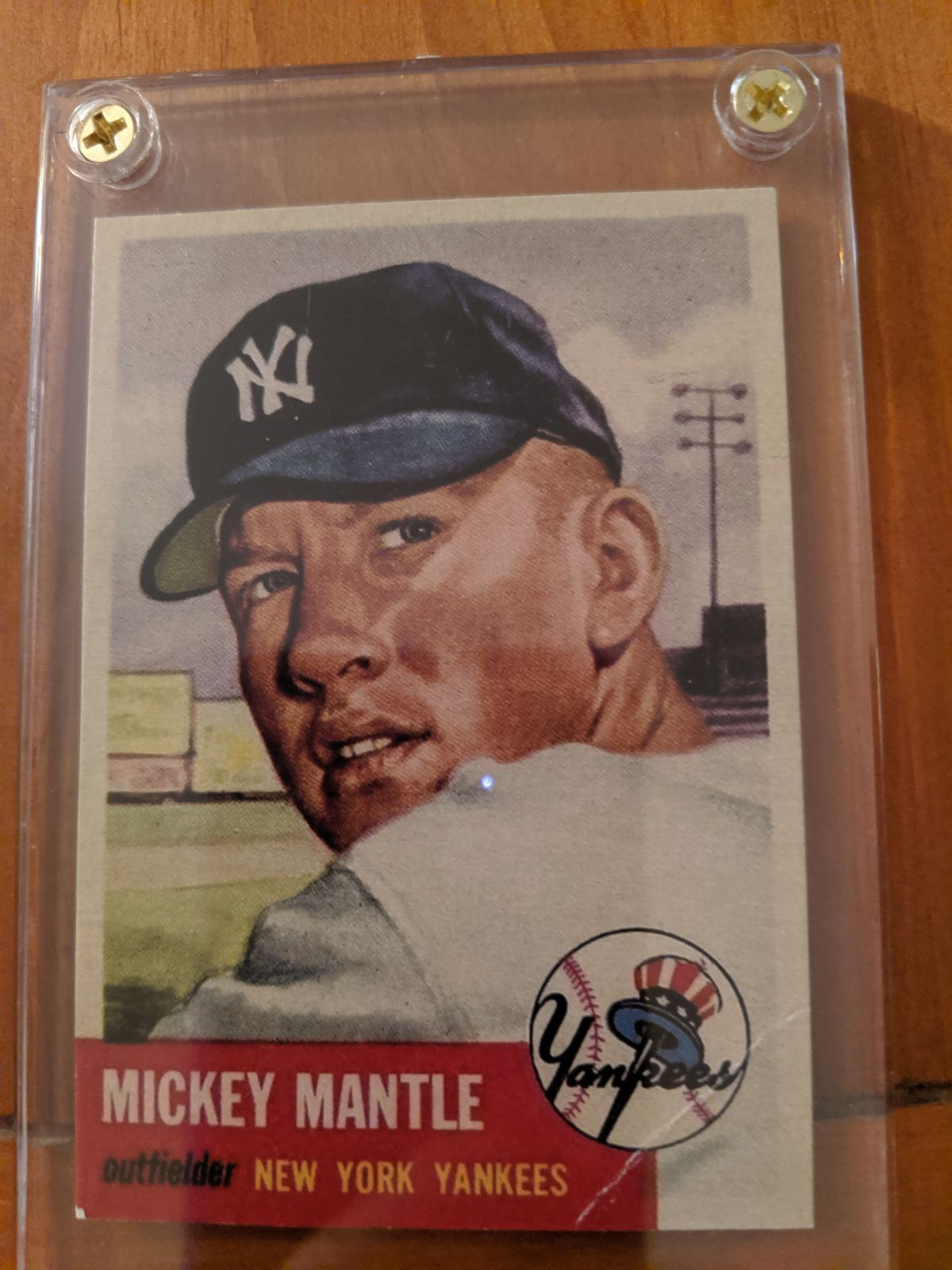 1953 topps mickey mantle 2nd year card selling as a