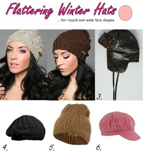aec65ac51e6 Flattering winter beanie hats and caps for round and wide face shapes
