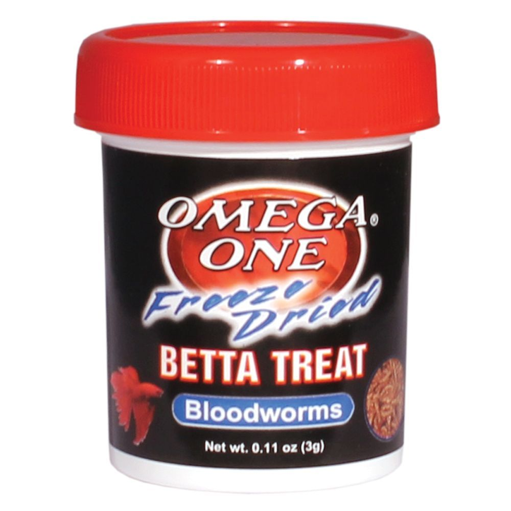 Omega, One Freeze Dried Bloodworms Fish Treat size 0.11
