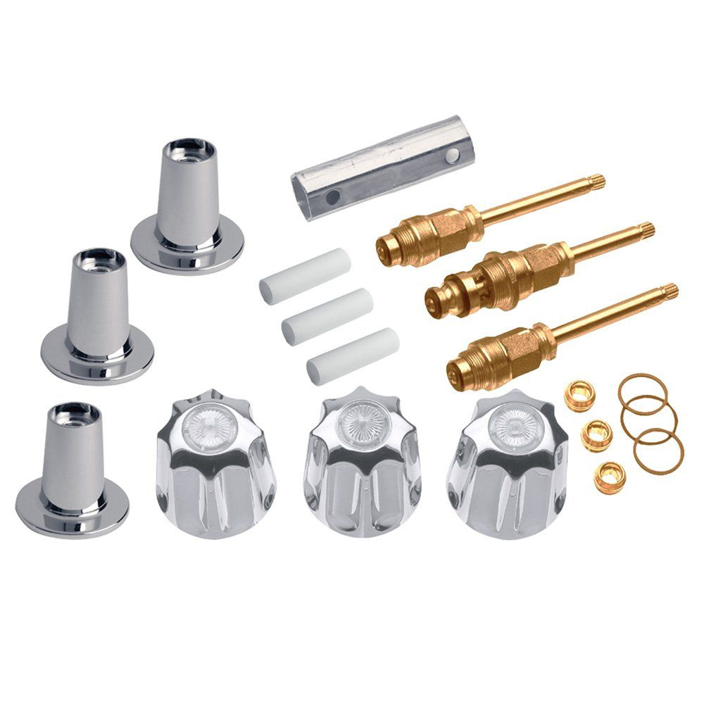 Danco 39615 3 Handle Valve Tub Shower Trim Kit For Gerber Chrome You Can Find Out More Details At The Link Of Shower Faucet Repair Shower Repair Metal Tub