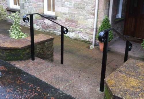 Merveilleux Iron Stair Railings Exterior, Metal Handrails For Outside Steps .