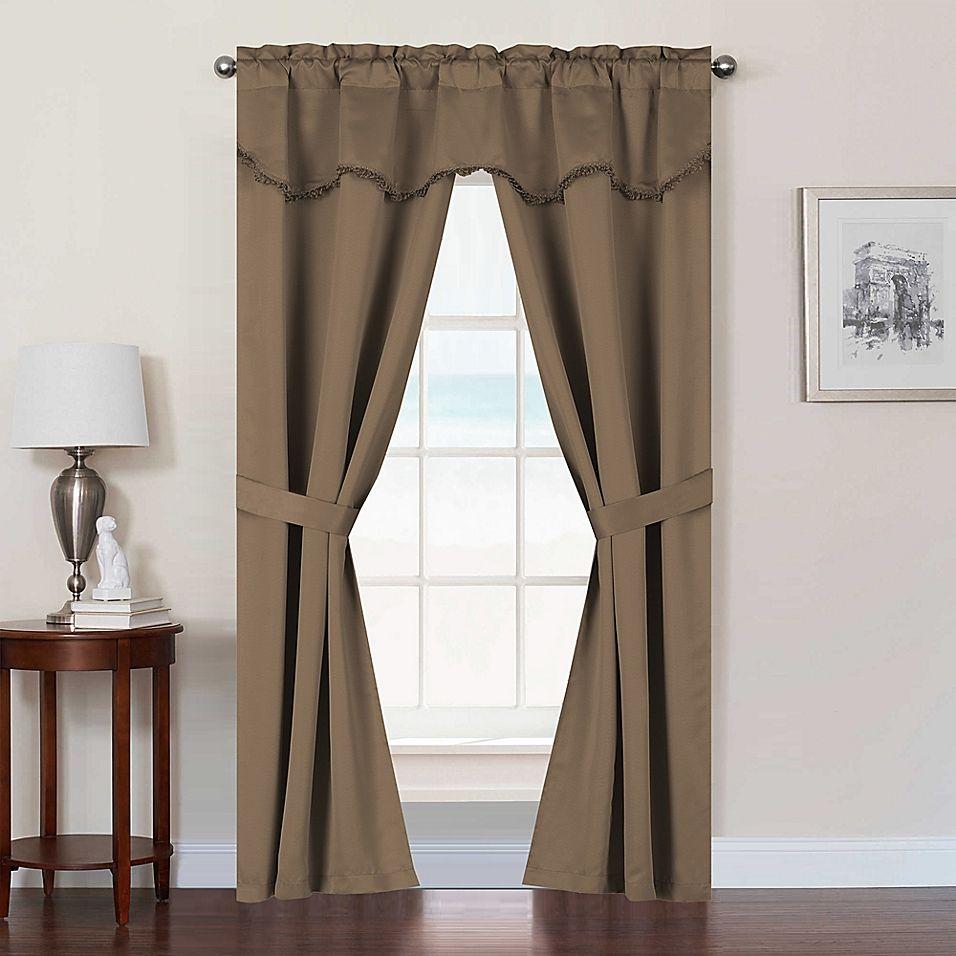Burlington 63 Rod Pocket Room Darkening Window Curtain Panel Set