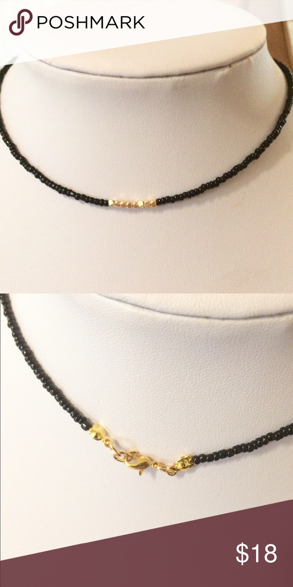 Black Gold Choker Necklace Gold Choker Necklace Gold Choker Chokers