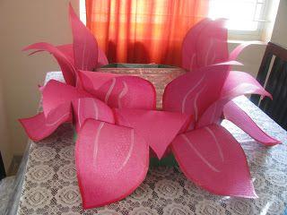 Hobby Workshops In Bangalore A Huge Lotus Paper Flower Prepared For