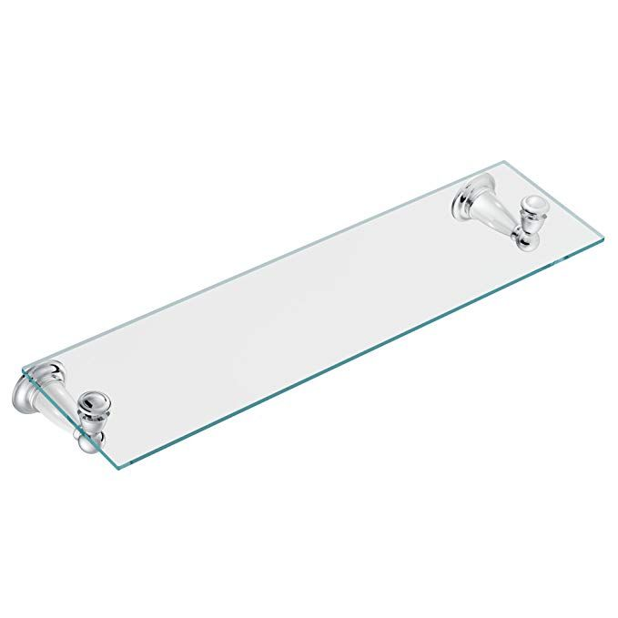 Moen DN8690WCH Parkview Glass Shelf, Chrome And White Review