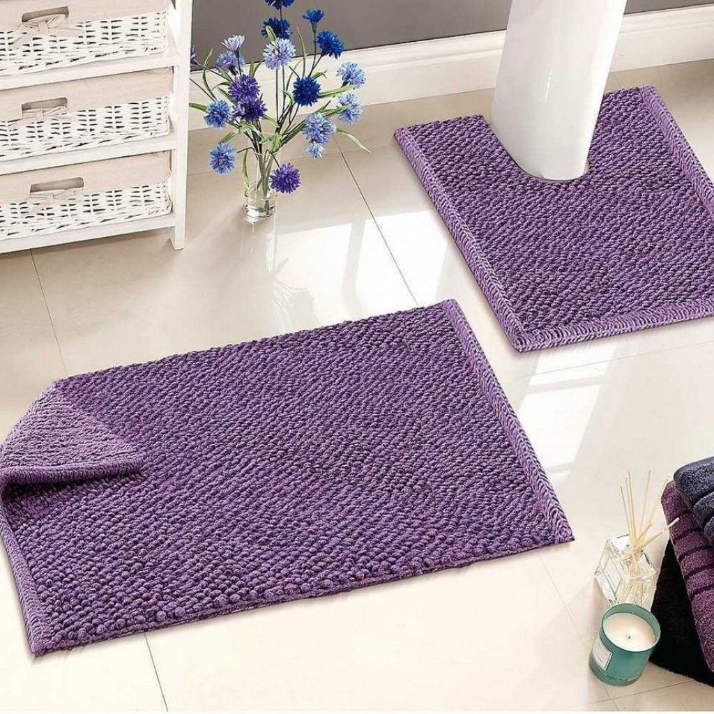 Dark Purple Bathroom Rugs And Towels