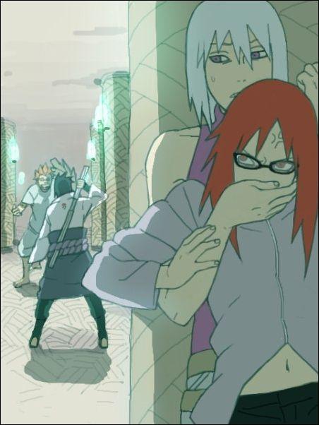 Naruto Sasuke Jugo Suigetsu And Karin Naruto Shippuden Anime Anime Naruto Naruto Sasuke Sakura