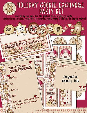 Hosting a cookie exchange party this year? DJ's 'Holiday Cookie Exchange Party Kit' download is ON SALE FOR 30% OFF TODAY ONLY and includes everything you need to host the perfect cookie exchange party! Sale ends at midnight! Shop today :)