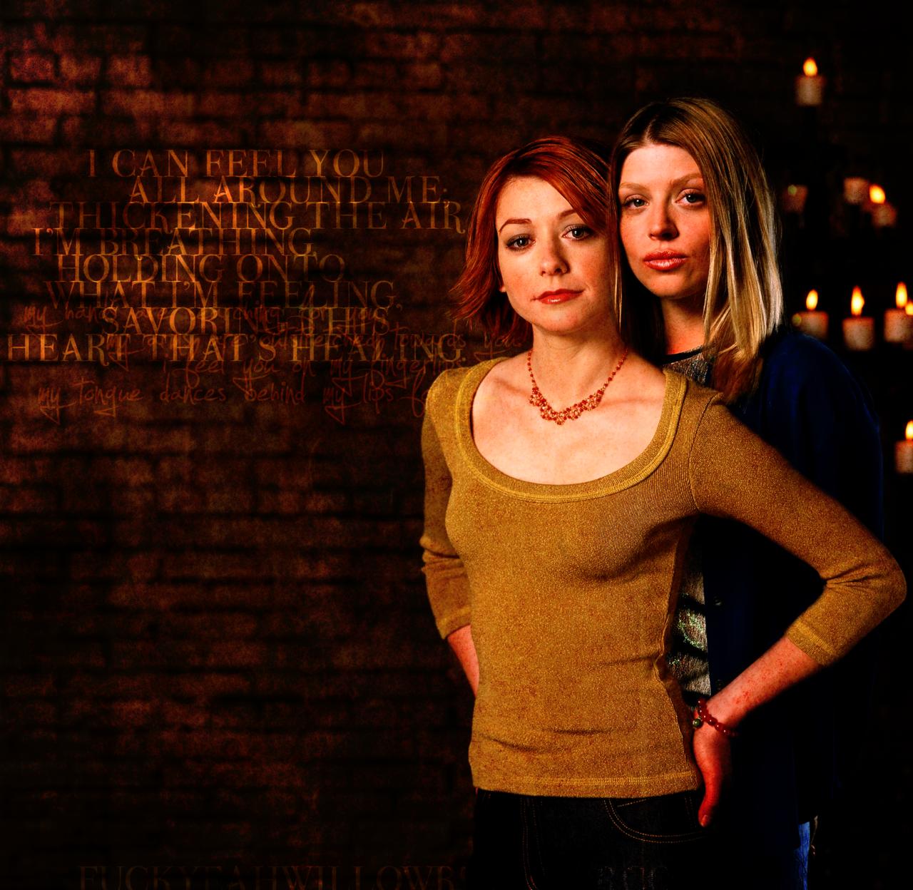 Willow and tara in buffy the vampire slayer