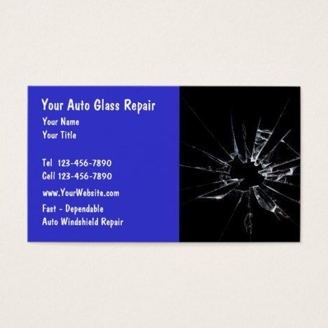Auto Glass Repair Business Card | Zazzle.com #glassrepair Auto Glass Repair Business Card #autorepair #businesscards #bodyshop #glassrepair